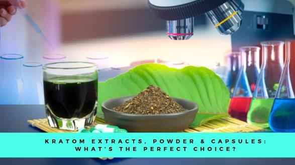 kratom extracts, powder, capsules
