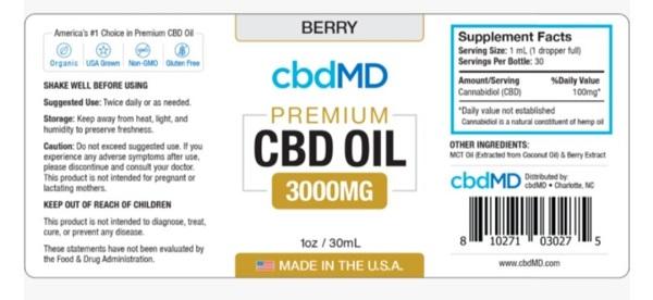 cbdMD oil tinctures