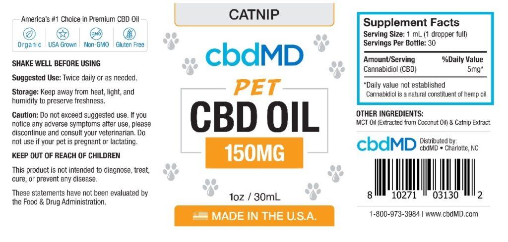 cbdMD pet oil