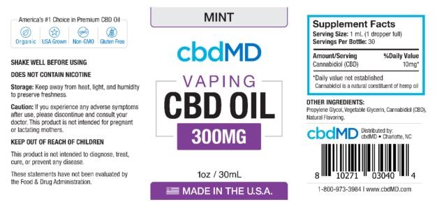 cbdMD vape oil