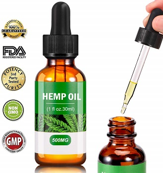 CBD with dropper