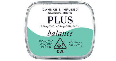 PLUS Cannabis-Infused Classic Mints